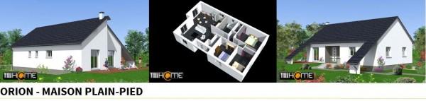 Maison plain pied - Modèle Orion par Tri Home Constructions
