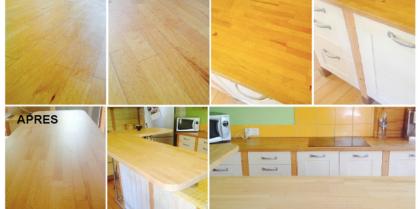 Comment rénover un plan de travail en bois ?
