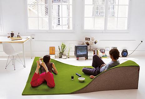 tapis design gazon