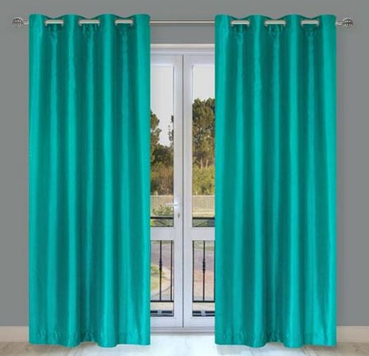 rideaux turquoise