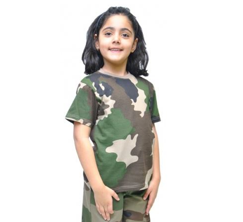 t-shirt camouflage enfant